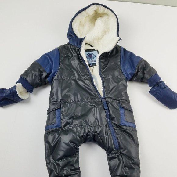 NWT Urban Republic Baby Winter Bibs Black/Blue